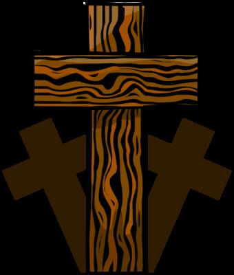 Cross clip art wooden cross. Image three crosses christart