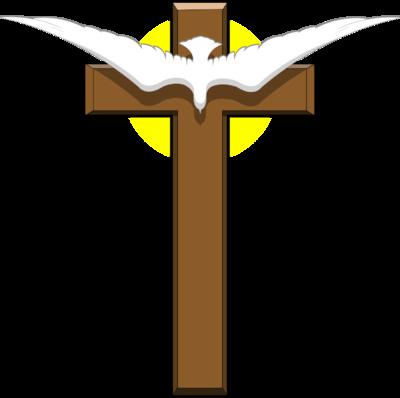Image dove over christart. Cross clip art wooden cross