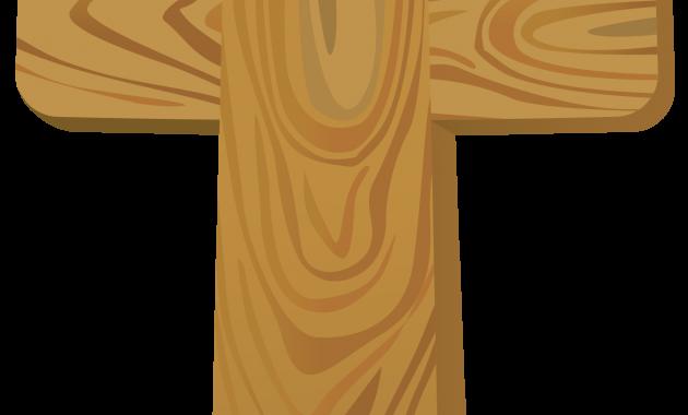 Cross clip art wooden cross. Vector archives library best