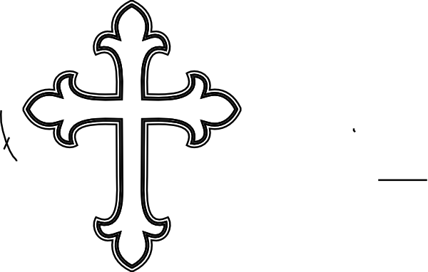 Black and white free. Cross clipart