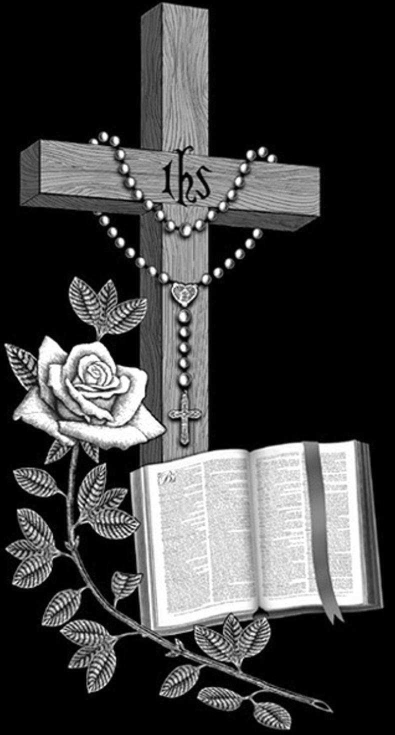 Crucifix clipart slanted. Black granite inch top