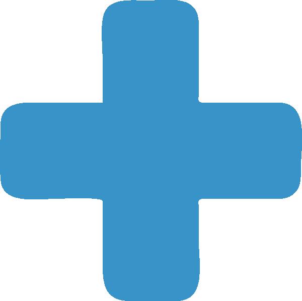 Cross clipart blue. Plus sign clip art