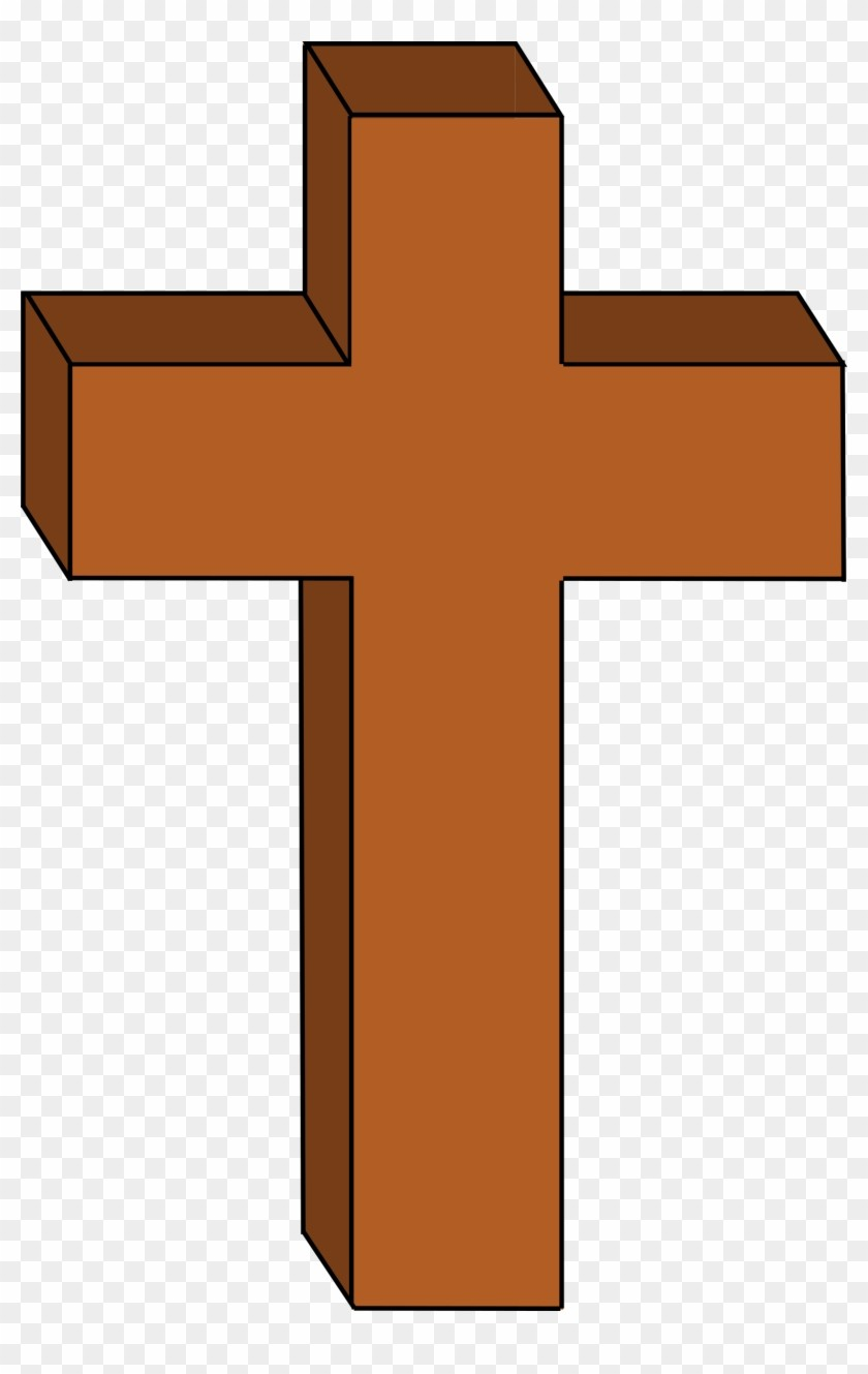 Cross clipart brown.  christian png within