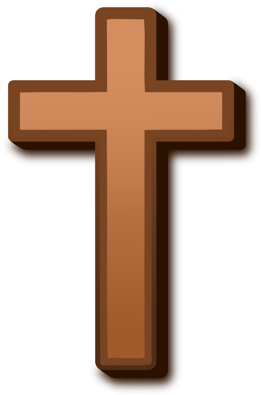 Cross clipart crucifix. Brown i royalty free