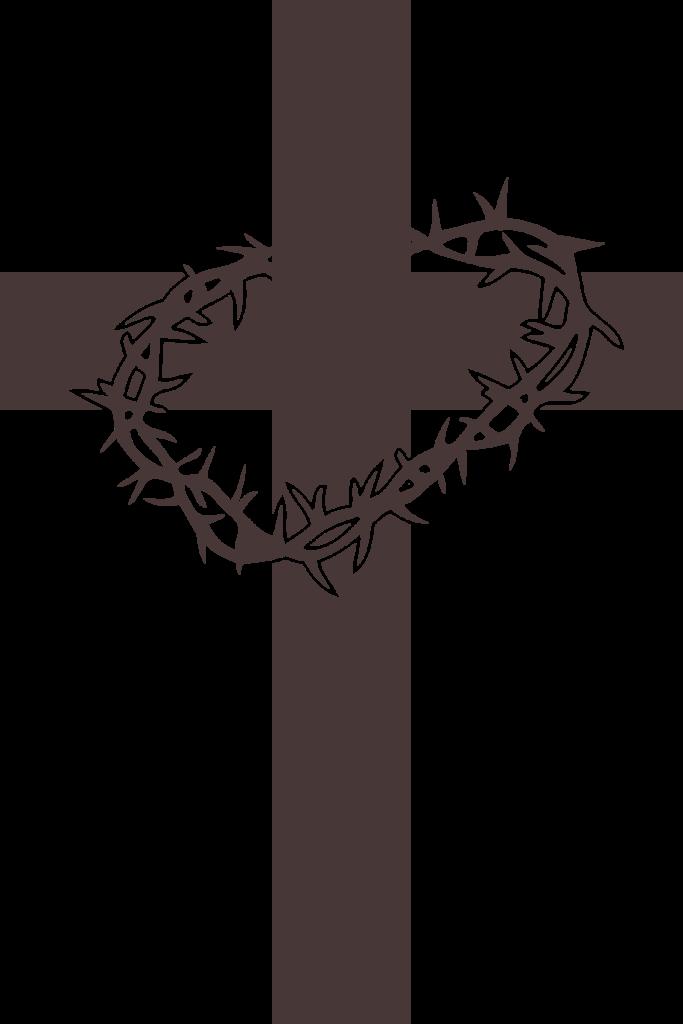 Cross clipart eps. Crossandthorns of typegoodies me
