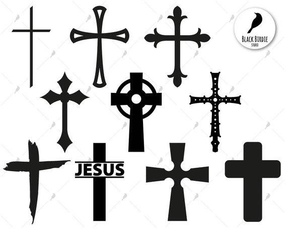 Cross svg christian jesus. Crucifix clipart designer