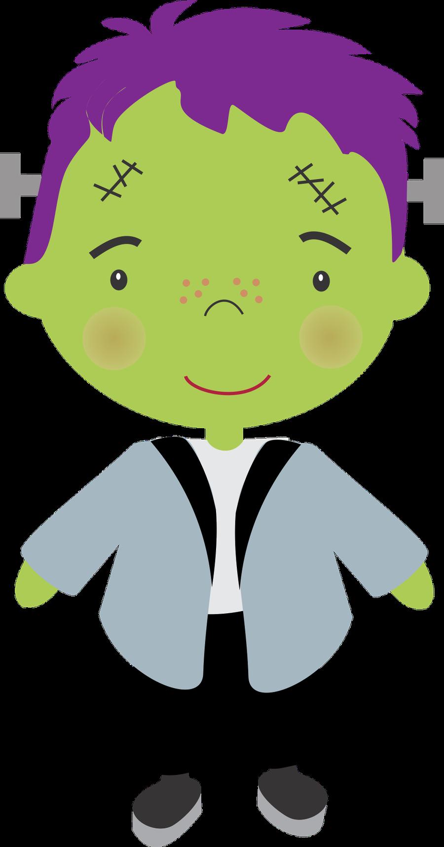 Minus say hello halloween. Frankenstein clipart purple