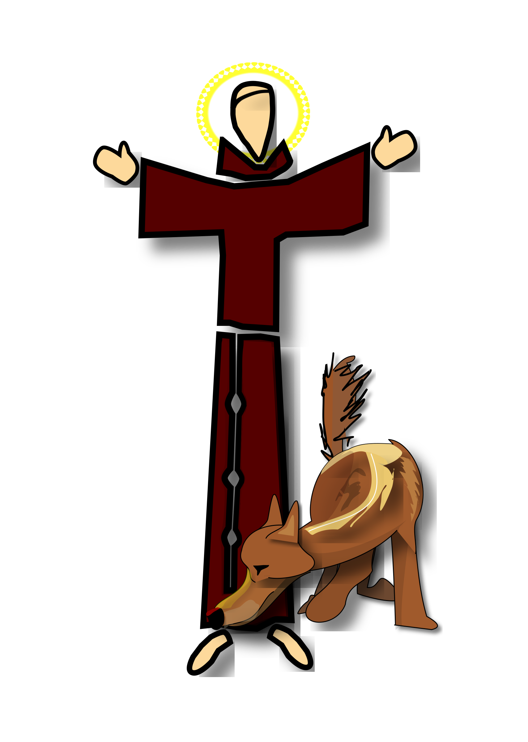 St francis at getdrawings. Cross clipart holy week