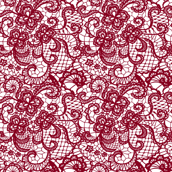 Transparent with flowers decoration. Lace vector png