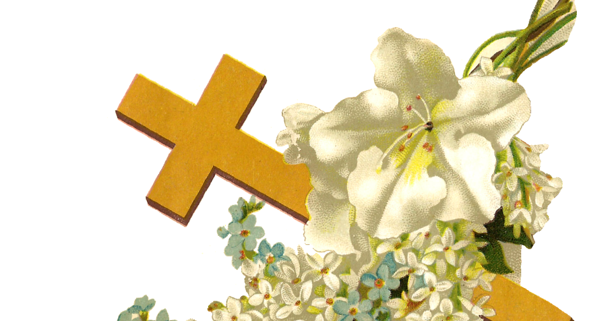 Cross clipart lily. Antique images free religious