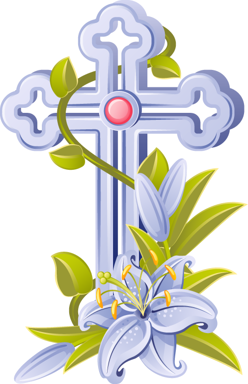 collection of memorial. Funeral clipart cross
