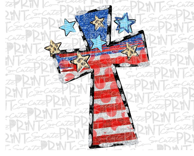 th of july. Cross clipart patriotic