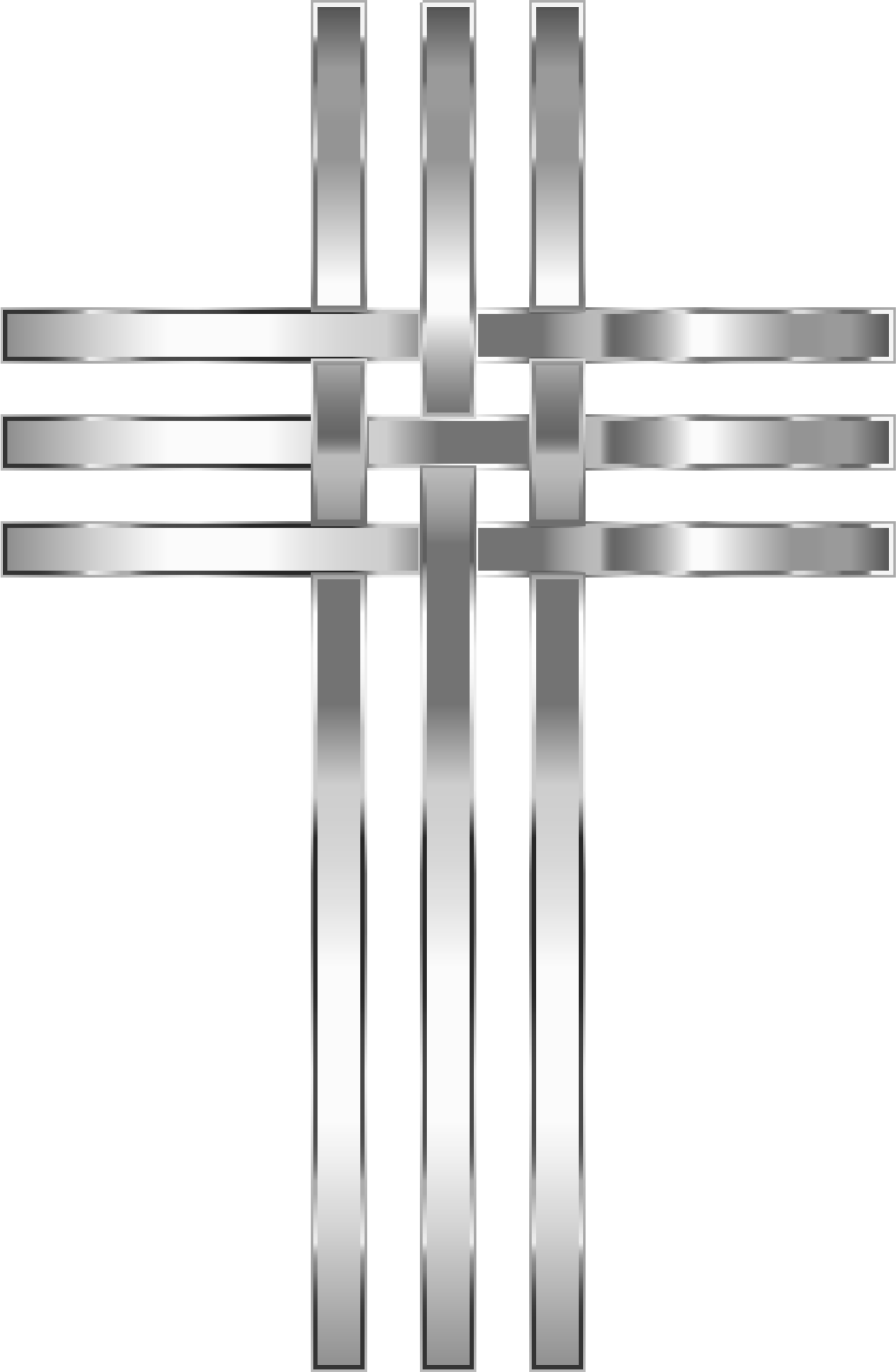 Weight clipart metal. Interlocked stylized stainless steel