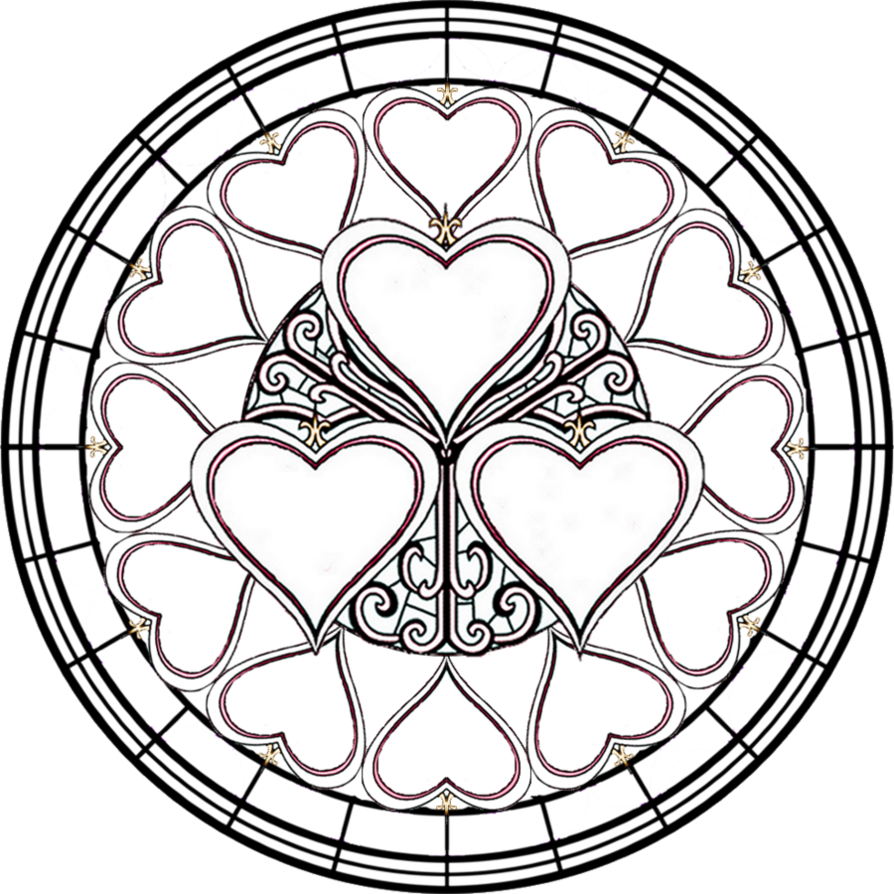 collection of coloring. Cross clipart stained glass