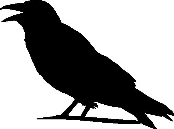 Crow clipart. Silhouette pattern clip art