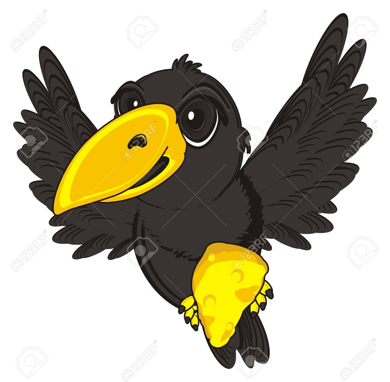 Crow clipart cheese clipart. Free download clip art