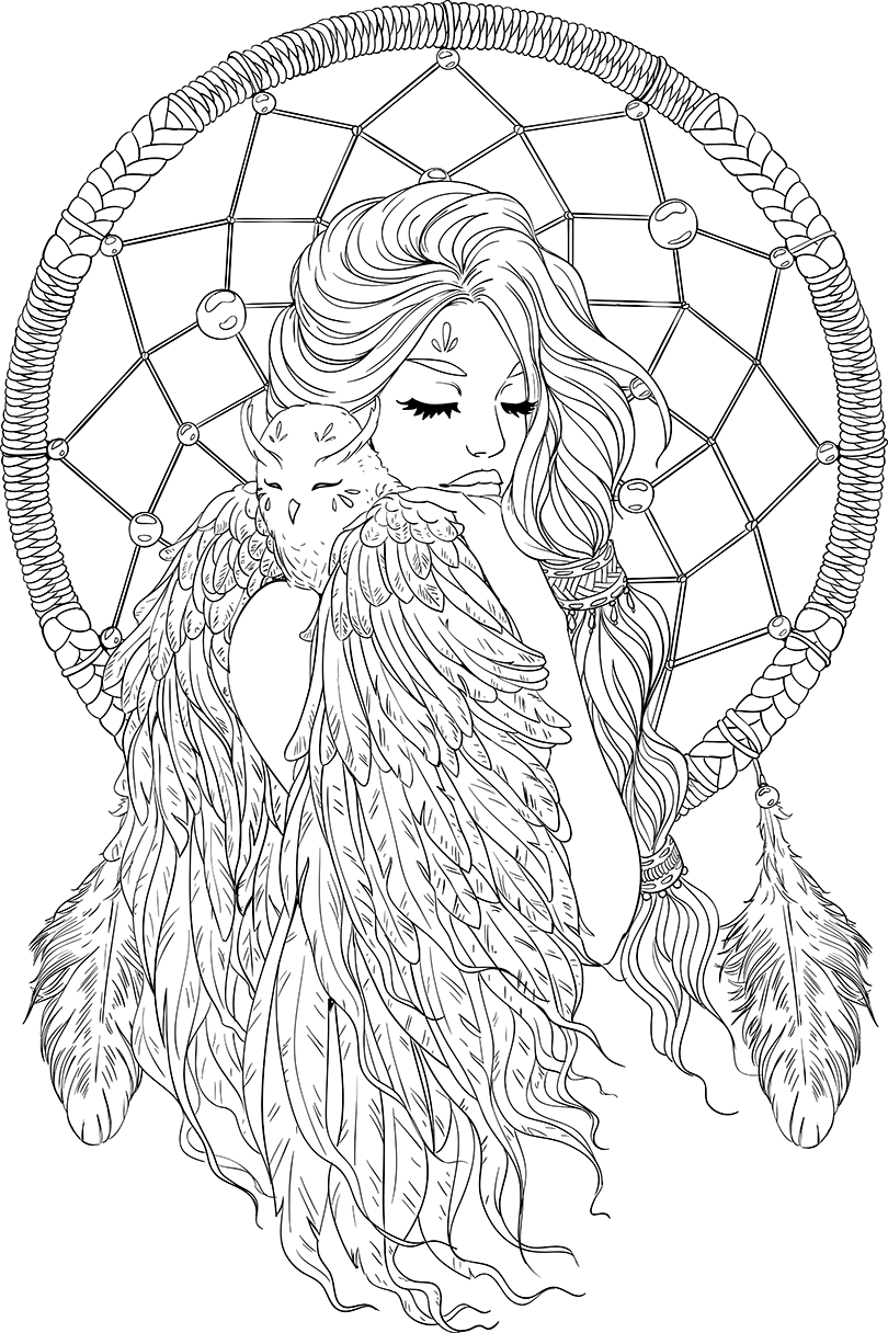 Lineartsy free adult coloring. Stitch clipart angel colouring page