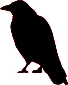 Silhouette clip art cutout. Crow clipart creepy