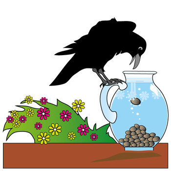 Crow clipart pitcher. Aesop s fables the