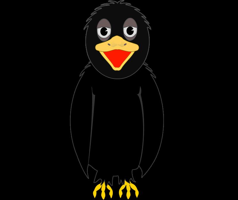 Crow panda free images. Penguin clipart profile