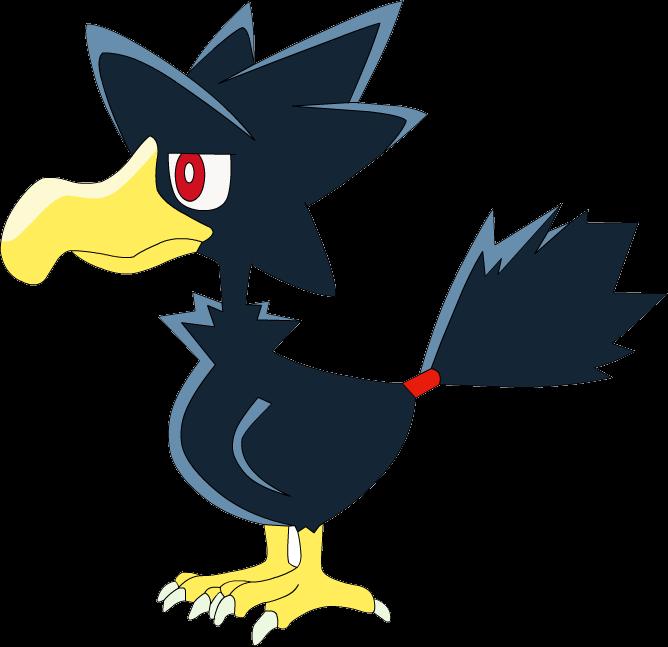 Image murkrow os anime. Crow clipart shiny