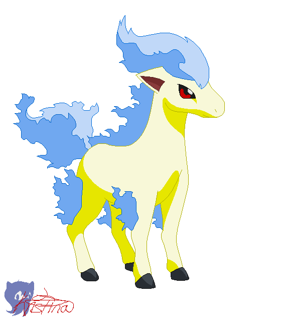 Crow clipart shiny. Ponyta by juniorshadow on