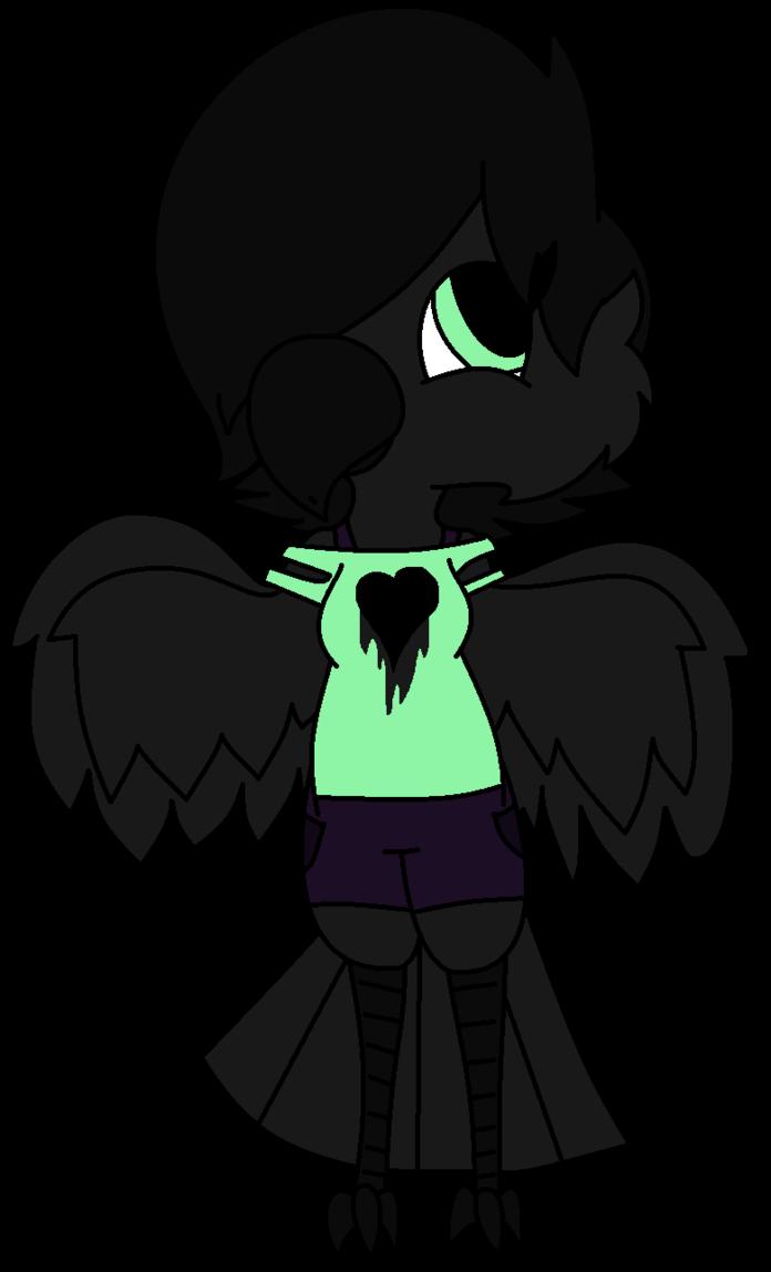 Undertale oc raven redraw. Crow clipart shiny