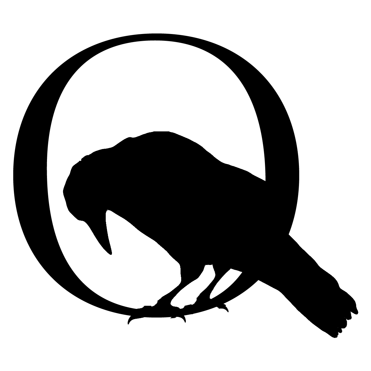 The hooded crow logo. Poetry clipart anthology