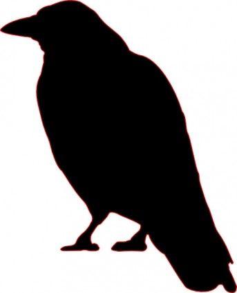 Silhouette clip art free. Crow clipart svg
