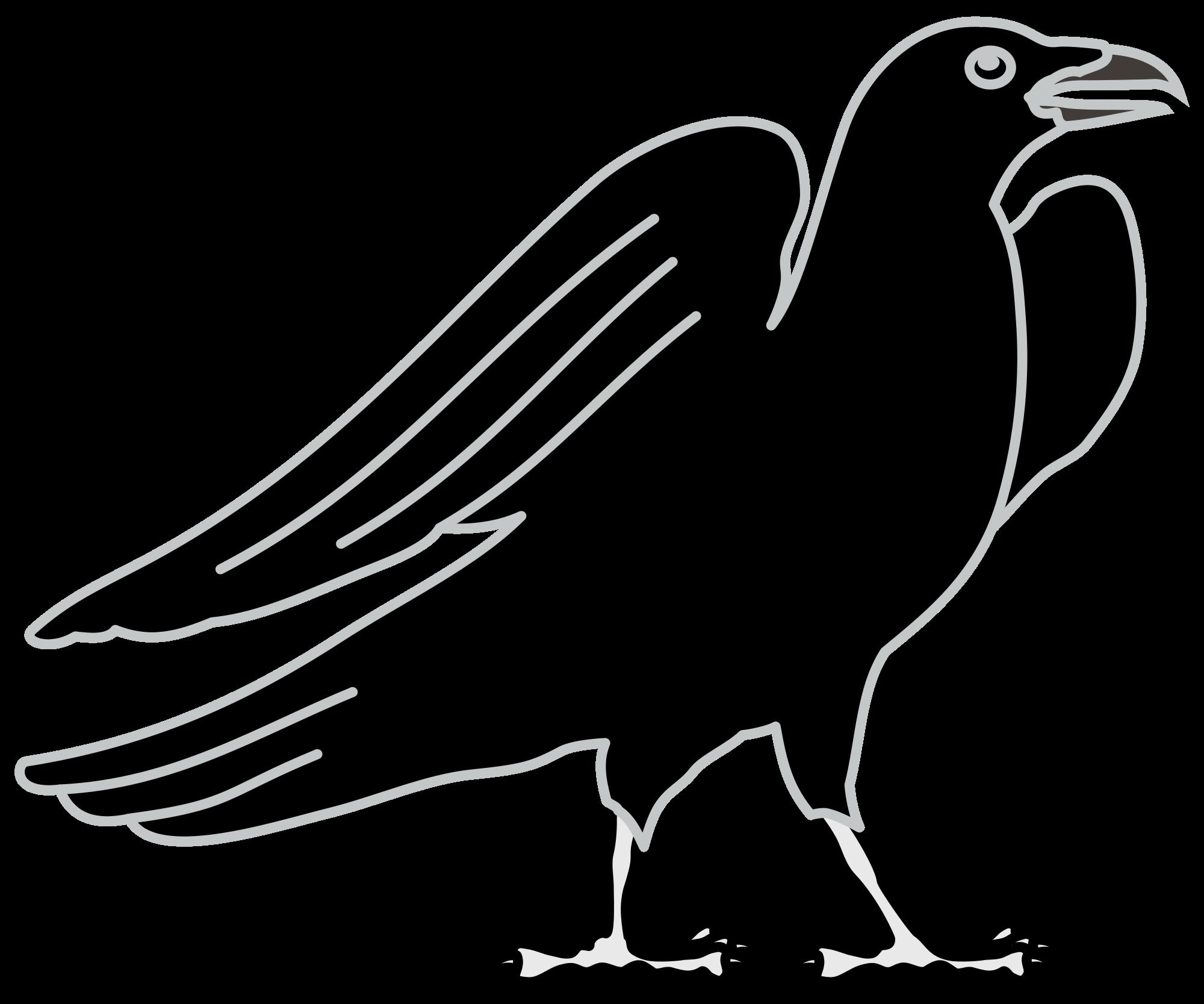 Crow clipart svg. File coa illustration elements