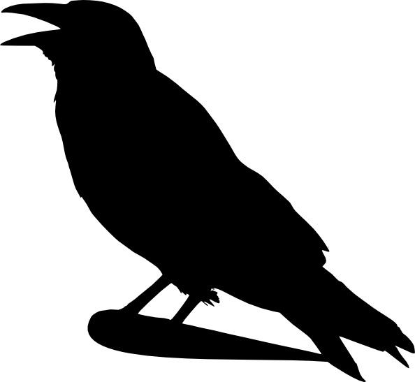 Crow clipart svg. Silhouette clip art free