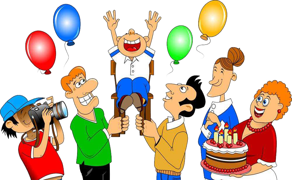 Birthday cake illustration celebrate. Human clipart community person