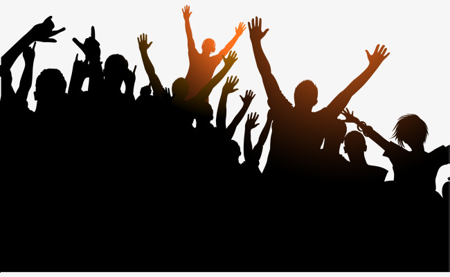 Crowd clipart. Black passion png image