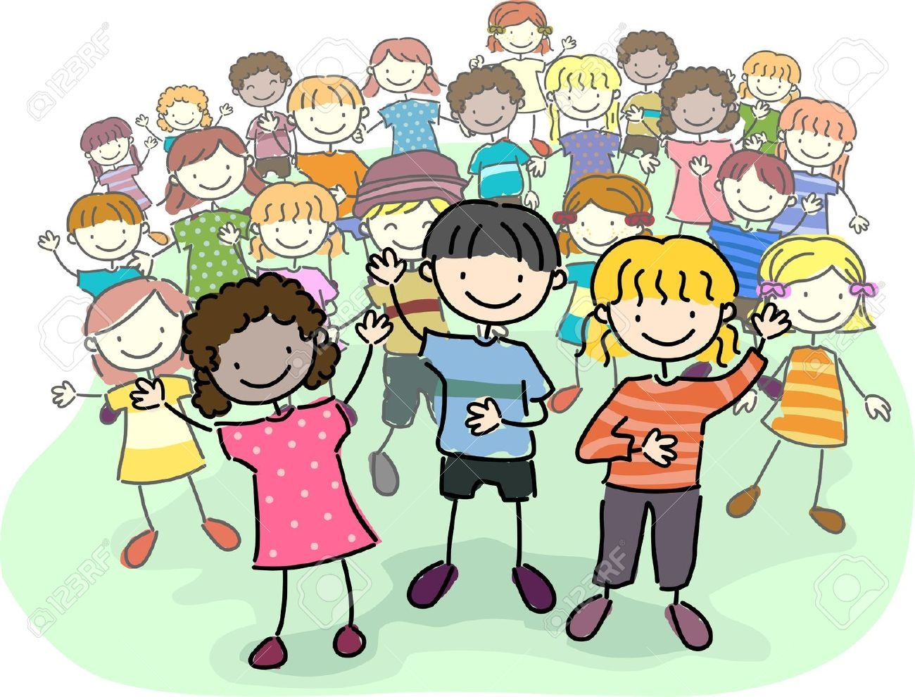 Best of collection digital. Crowd clipart