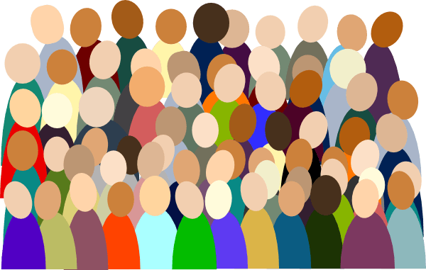 . Crowd clipart