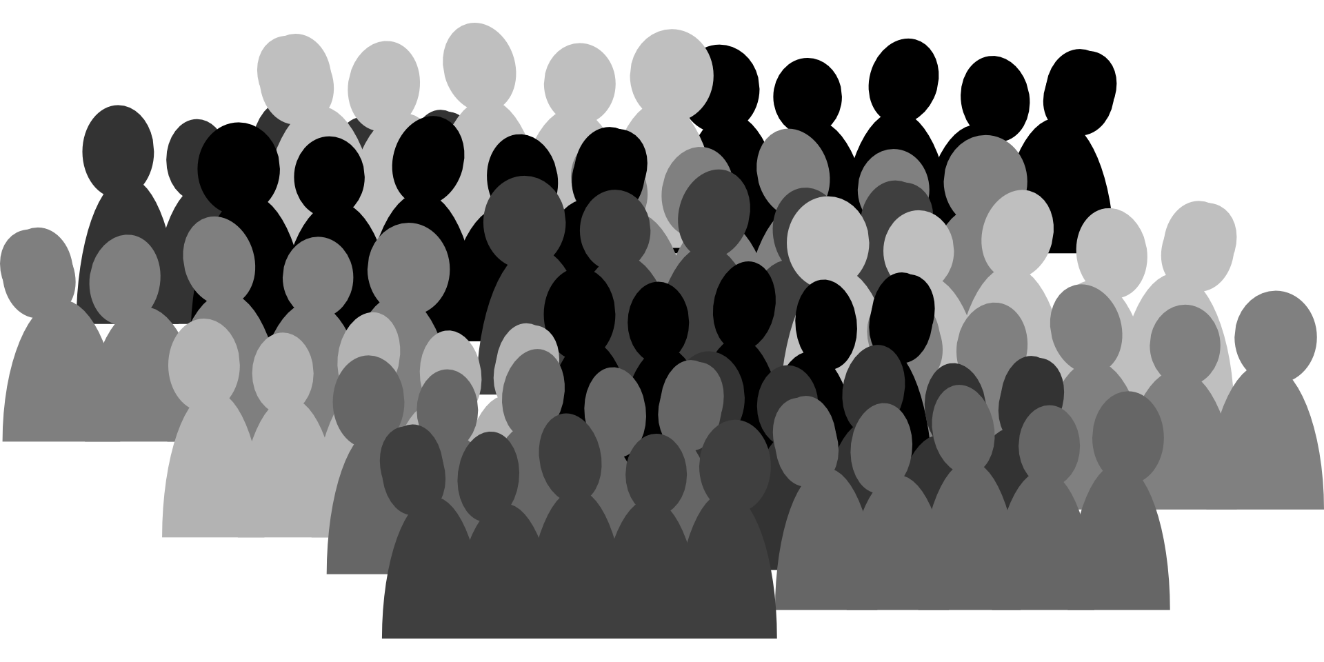 Humans clipart many. Audience shadow person free