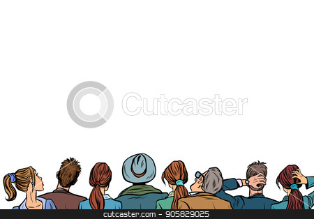 People audience background lecture. Crowd clipart back crowd