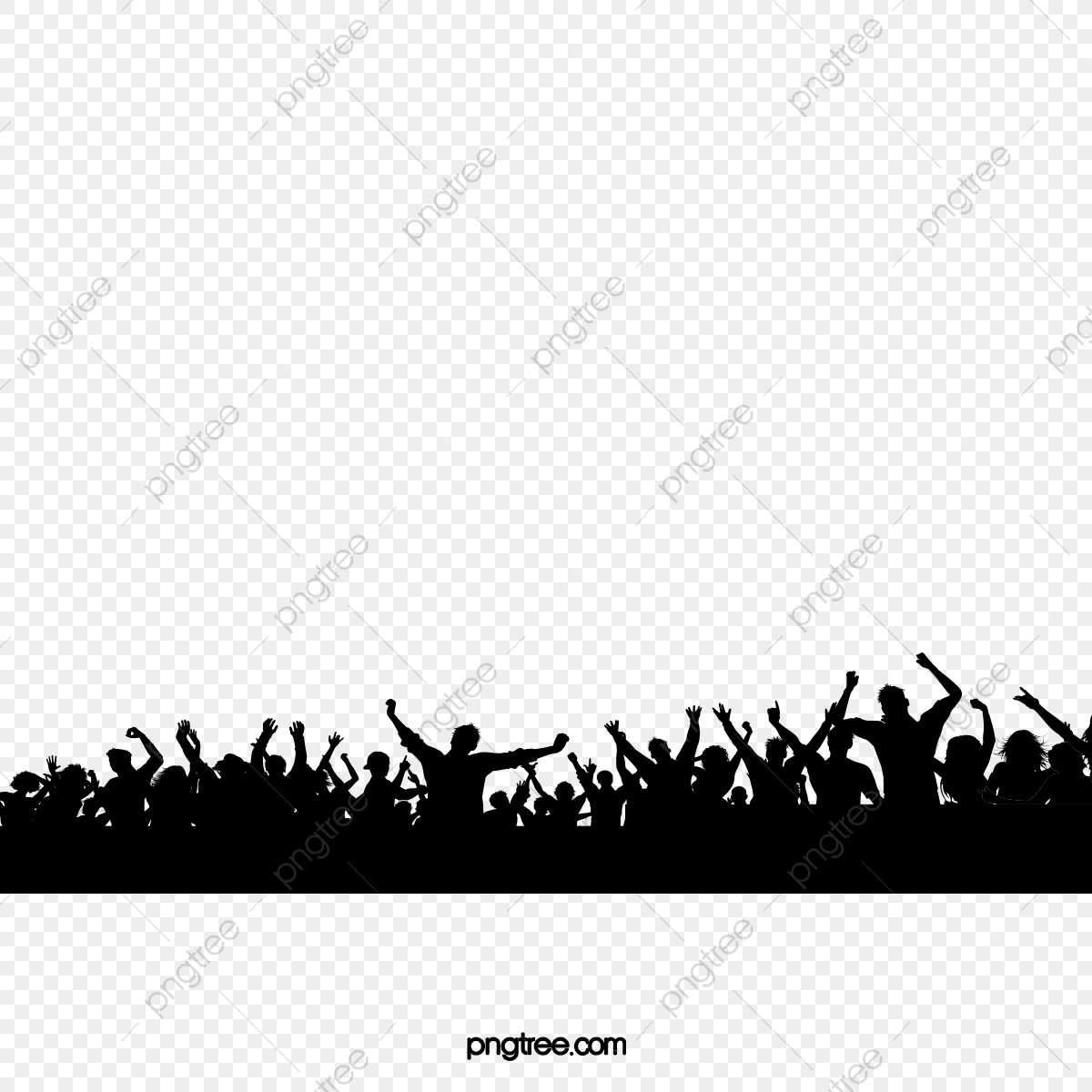 Crowd clipart back crowd. Cheering concert png transparent