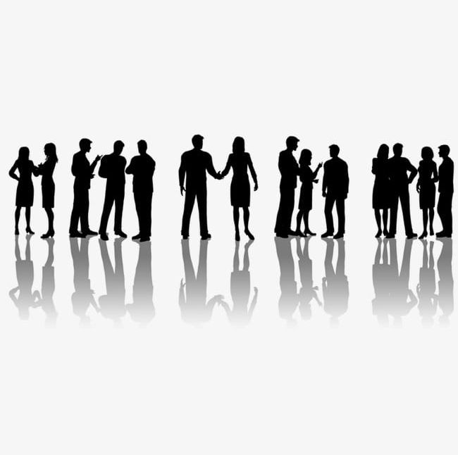 People silhouettes png . Professional clipart business man