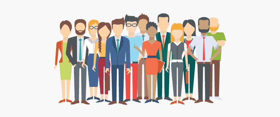 Picture of a group. Crowd clipart diverse person