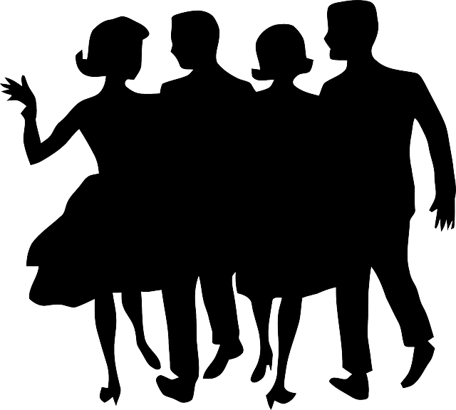 People dancing image pack. Group clipart dance