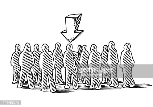 Crowd of people the. One clipart chosen