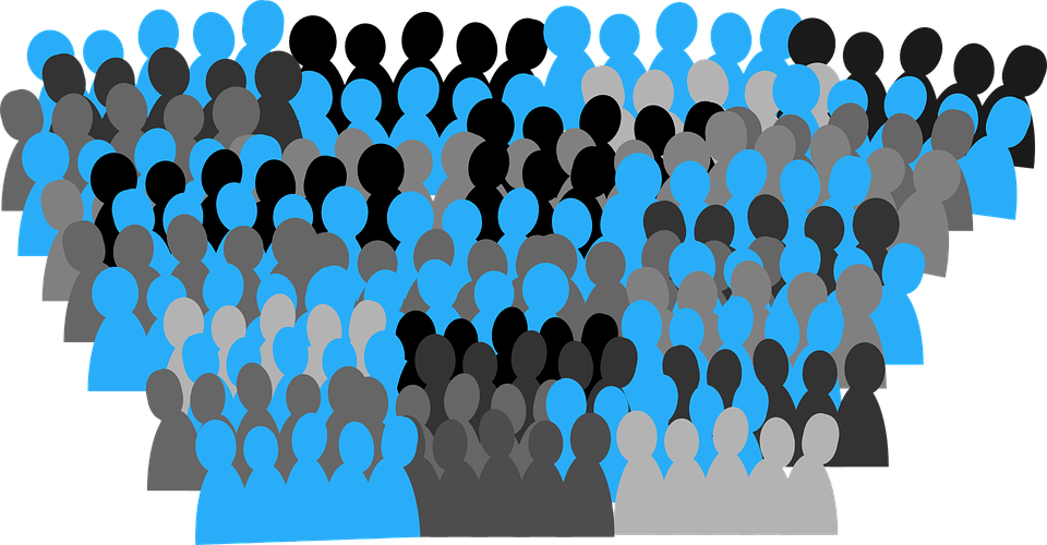 Crowd lot free on. Person clipart city