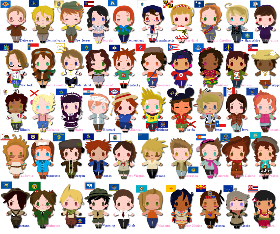 United states clipart 50 state. All of america are