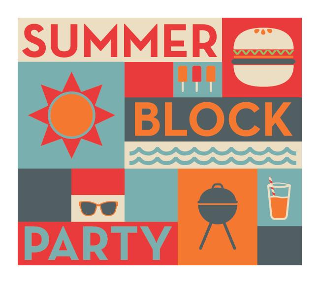 Neighbourhoods work block whistler. Party clipart street party