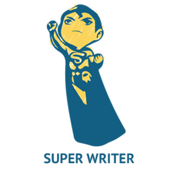 Writer clipart academic writing. Freelance superpowers of lance