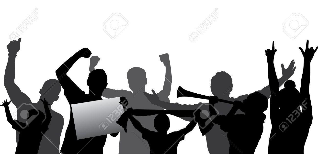 Crowd clipart shadow. Of people silhouette free