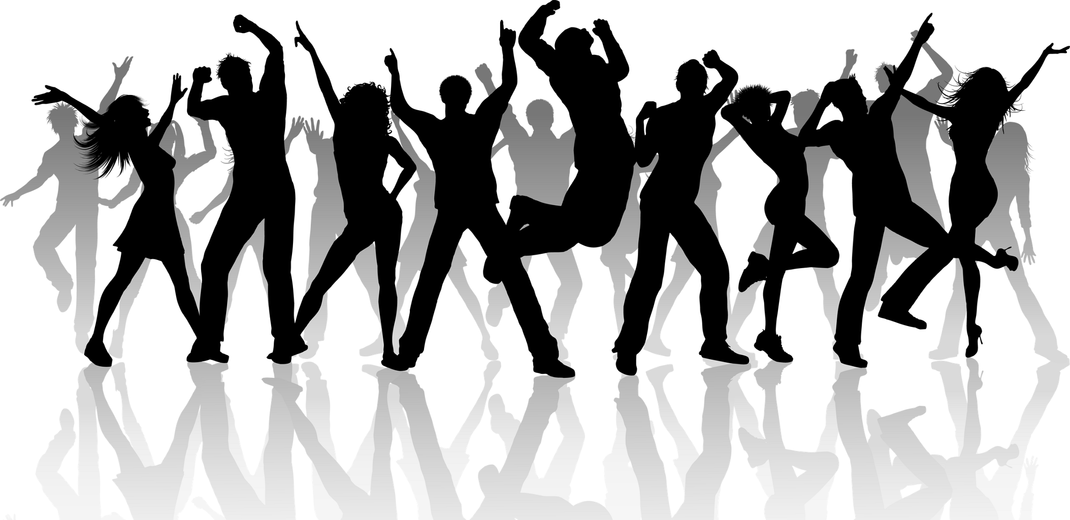 Crowd clipart shadow. Silhouette sticker by territales