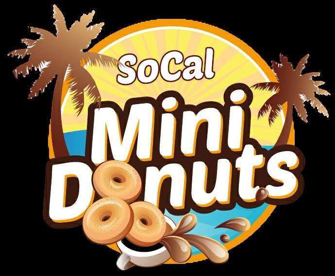Socal mini donuts . Donut clipart yellow