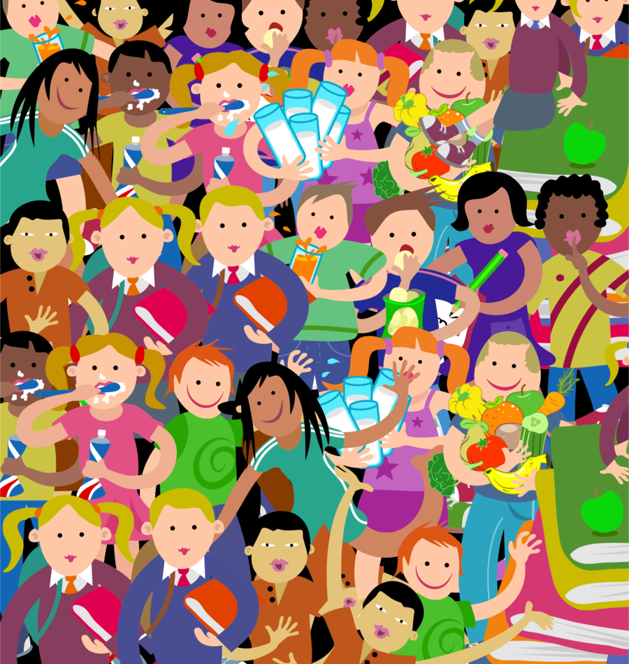 Group of people background. Crowd clipart students